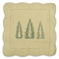 Donna Sharp Bear Creek Trees Square Throw Pillow