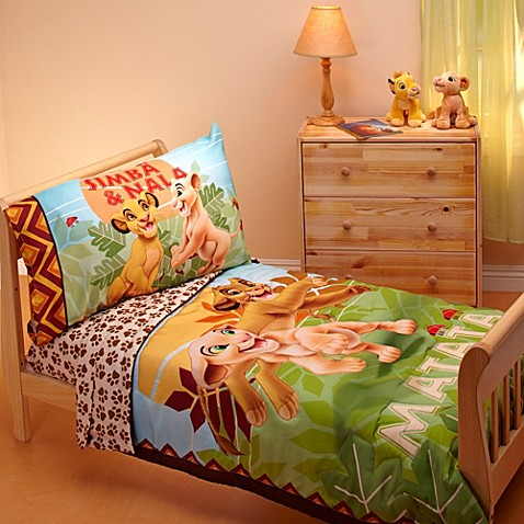 "disney ""lion king"" jungle beat piece toddler bedding set, coloring pages"