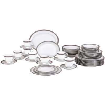 Noritake® Crestwood Platinum 50-Piece Dinnerware Set  sc 1 st  Bed Bath u0026 Beyond : bed bath and beyond dinnerware sets - pezcame.com