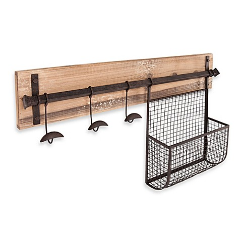 image of Southern Enterprises Entryway Wall Mount Storage
