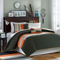 Pipeline Full/Queen Comforter Set in Olive