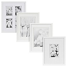 real simple white wood wall frame with white double mat - White Frame With Mat