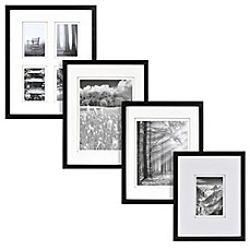 real simple black wood wall frame with white double mat - White Frame With Mat