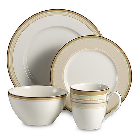 Noritake® Mocha Java Swirl 4-Piece Place Setting