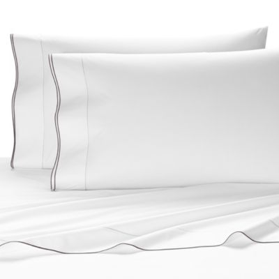 kassatex fiesole egyptian cotton queen fitted sheet in charcoal