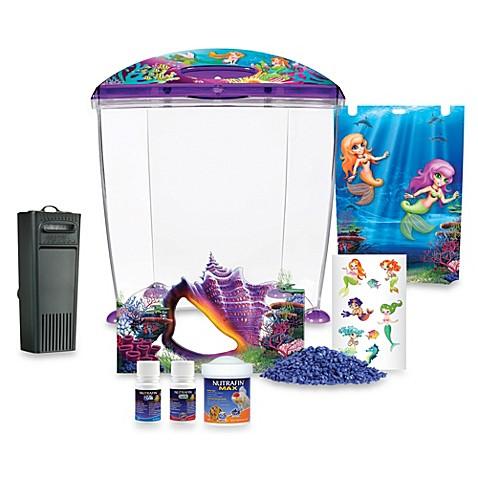 Marina mermaid aquarium set bed bath beyond for Mermaid fish tank