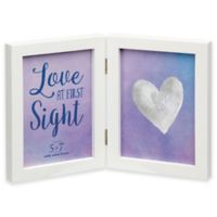 Prinz Soho 5-inch x 7-Inch White Wood 2-Picture Hinged Frame