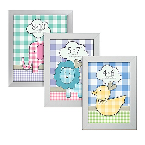 prinz soho 4 inch x 6 inch wood picture frame in silver