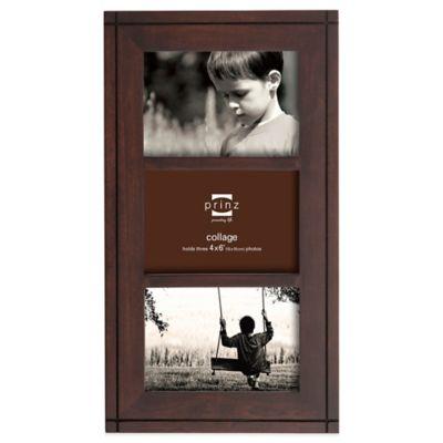 prinz dryden dark walnut wood 3 opening 4 inch x 6 inch picture