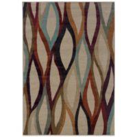 Oriental Weavers Adrienne Prism 3-Foot 10-Inch x 5-Foot 5-Inch Rug in Tan