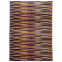 Oriental Weavers Pantone Prismatic Geo 3-Foot 5-Inch x 5-Foot 5-Inch Rug in Plum