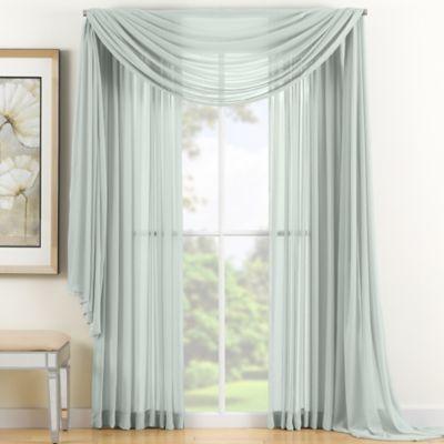 Reverie 84 Inch Sheer Window Curtain Panel In Seafoam