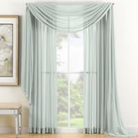 Reverie 84-Inch Sheer Window Curtain Panel in Seafoam