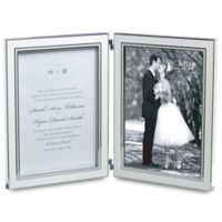 Eccolo™ 5-Inch x 7-Inch 2-Photo Enamel Channel Double Frame