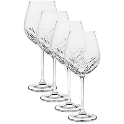 Top Shelf Bevel Crystal Wine Gles Set Of 4