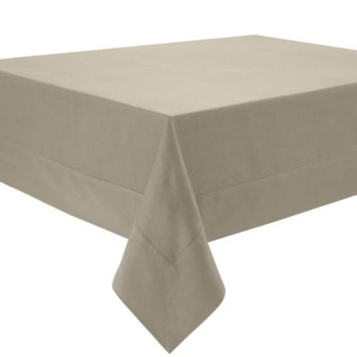 Waterford® Linens Addison 70 Inch X 84 Inch Oblong Linen Tablecloth In Beige