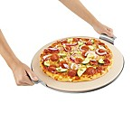 Pizzacraft™ 15-Inch Round Pizza Stone with Solid Stainless Steel Tray