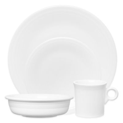Fiesta® 4-Piece Place Setting in White  sc 1 st  Bed Bath u0026 Beyond & Buy Fiesta White Dinnerware from Bed Bath u0026 Beyond