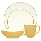 Noritake® Colorwave Coupe 4-Piece Place Setting in Mustard