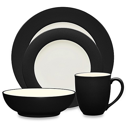 image of Noritake® Colorwave Rim Dinnerware Collection in Graphite