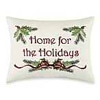 Berry Wreath Home for the Holidays Pillow