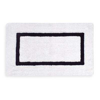 Kassatex Baratta Turkish Cotton Bath Rug In White Black