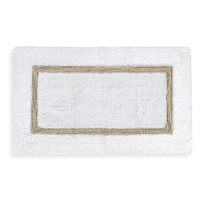 Kassatex Baratta Turkish Cotton Bath Rug in White Taupe. Buy Taupe Bath Rugs from Bed Bath  amp  Beyond