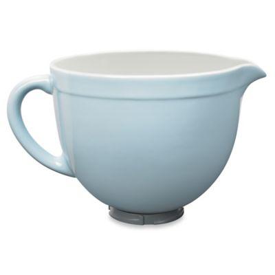 Kitchenaid Ceramic Bowl For Tilt Head Stand Mixers In Glacier Blue