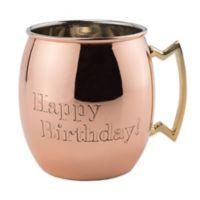 """Old Dutch International """"Happy Birthday!"""" Moscow Mule Mug in Solid Copper"""