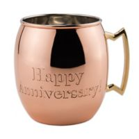 """Old Dutch International """"Happy Anniversary!"""" Moscow Mule Mug in Solid Copper"""