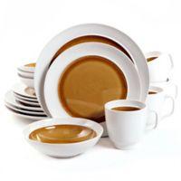 Aqua Oasis 16-Piece Dinnerware Set in Amber