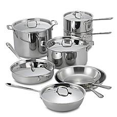 allclad stainless steel 14piece cookware set