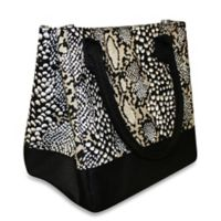 Vienna Insulated Lunch Bag in Taupe Reptile