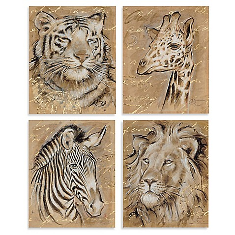 Safari Wall Art safari animal printed canvas wall art - bed bath & beyond