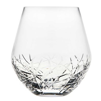 top shelf graffiti stemless wine glasses set of 4