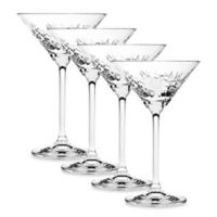 Top Shelf Graffiti Martini Glasses (set of 4)