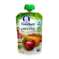 Gerber 2nd Foods 3.5 oz. Organic Purees Apple Carrot Squash