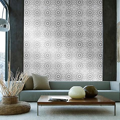Tempaper Removable Wallpaper In Medallion Platinum Bed