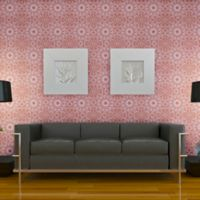 Tempaper® Double Roll Removable Wallpaper in Medallion Berry