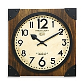 sterling u0026 noble 16inch antique wood wall clock