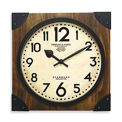 Sterling Amp Noble 16 Inch Antique Wood Wall Clock Bed