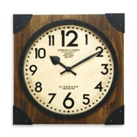 Sterling & Noble 16-Inch Antique Wood Wall Clock