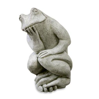 Campania Thinking Man's Frog Garden Statue