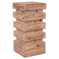 Howard Elliott® Medium Stepped Pedestal Table in Natural Wood