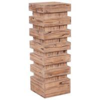 Howard Elliott® Tall Stepped Pedestal Table in Natural Wood