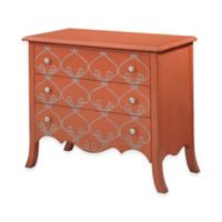 Bassett Mirror Company L'Orangerie 3-Drawer Chest in Tangerine