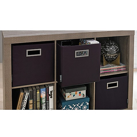 Buy kenneth cole reaction home storage bin in purple from for Purple bathroom bin
