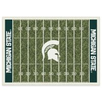 Michigan State University 3-Foot 10-Inch x 5-Foot 4-Inch Small Home Field Rug