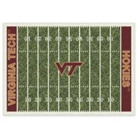 Virginia Tech 3-Foot 10-Inch x 5-Foot 4-Inch Small Home Field Rug