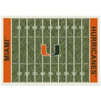 University of Miami 3-Foot 10-Inch x 5-Foot 4-Inch Small Home Field Rug